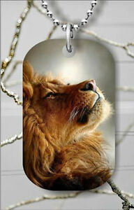 BRAND NEW LION STRENGTH DOG TAG NECKLACE