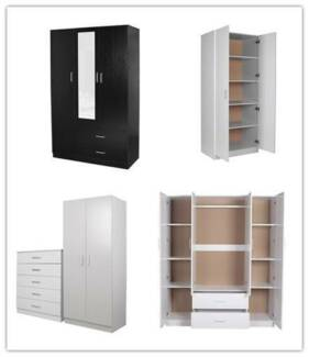 2/3/4 door cupboard/mirrored wardrobes CLEARANCE SALE!