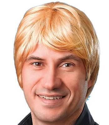 MÄNNLICHE PERÜCKE. KURZE. PARTY PERÜCKE, BLOND, HALLOWEEN #DE Blonde Männliche Perücke