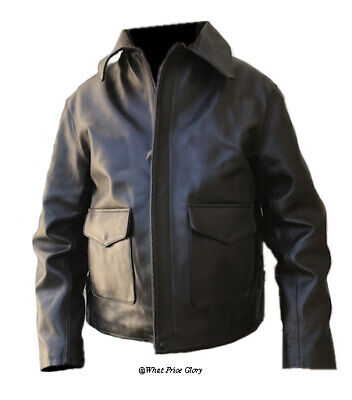 Indiana Jones Raiders Lambskin Leather Jacket Size 48