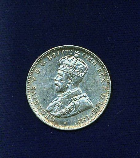 AUSTRALIA GEORGE V 1920-M  1 SHILLING SILVER COIN,  XF/ALMOST UNCIRCULATED+