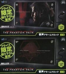 METAL GEAR SOLID 5 PHANTOM PAIN JAPAN VOICE ALARM CLOCK SET X2 TAITO KONAMI NFS
