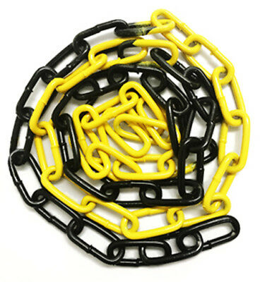 6mm x 42mm Epoxy Coated Steel Welded Barrier Chain - Yellow/Black - 19358YB