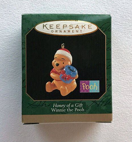 Winnie the Pooh ~ HONEY OF A GIFT ~ Jar of Honey  ~ Hallmark Miniature Ornament