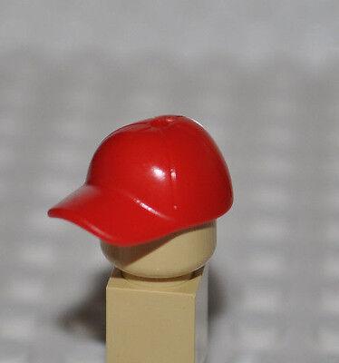 LEGO PARTS - 1X MINIFIGURE CAP/RED BASEBALL HAT/SPORTS HEAD GEAR FOR BOY/GIRL