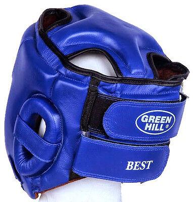 Greenhill Leather Boxing Head Guard Kickboxing Headgear Best Easy Wear