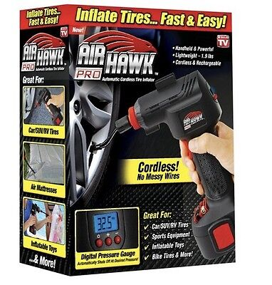 Air Hawk Pro Cordless Portable Air Compressor As Seen On TV *HOT DEAL* NEW!