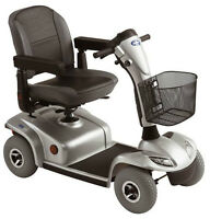 Leo 4-Wheel Power Scooter - Available in Stylish Silver
