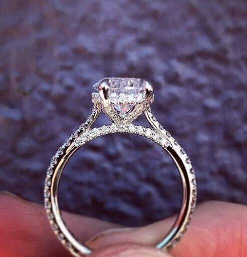 1.60 Ct Pear Brilliant Cut Diamond Hidden Halo Engagement Ring I,VS1 GIA 14K WG  7