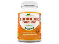 Organic Turmeric Curcumin with Organic Black Pepper, SOIL ASSOCIATION Certified, 60 Veg Capsules