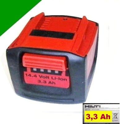 Original Hilti Akku  B 14 / 3.3  Ah Li  14,4 V  --  3,3 Ah  14,4 Volt.