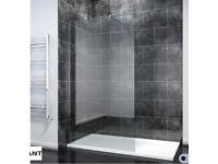 BRAND NEW - ELEGANT 1200mm Frameless Wet Room Shower Screen Panel 8mm Easy Clean Support Bar