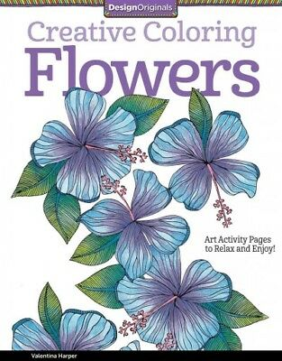 Flowers Adult Coloring Book : Art Activity Pages to Relax and Enjoy!, Paperba...