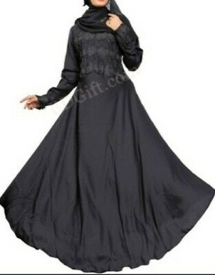 Muslim Women's black full sleeve Abaya, Black lengthy/ long dress.