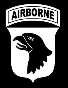 101st airborne division screaming eagles vinyl window for 101st airborne window decals