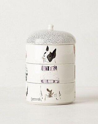 Anthropologie Candle ILLUME Dog Bowls PAWS CLAWS Tangerine Teakwood Sweater NIB