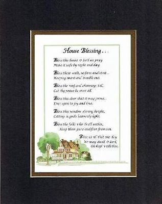 Touching Poem for Home - House Blessings . . . on 11x14 Double Beveled Matting   ()