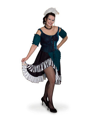 Sexy Western Saloon Girl Plus Size Halloween Dress Full Costume Women XL 2XL 3XL