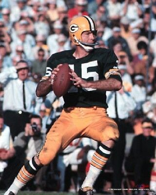 Bart Starr Action 8x10 Color Photo Green Bay Packers NFL HOF