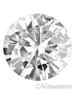 Loose Round Genuine 6.5mm Moissanite = 1 CT Diamond