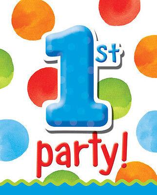 Boys 1st Birthday Polka Dots Party Supplies Invitations Polka Dots Invite