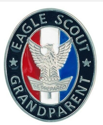2 Pin Set Boy Scout Official Licensed Eagle Grandparent Grandma Mom Grandpa Pop