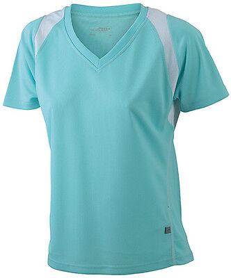 Damen Funktions Sport T-Shirt Fitness Feuchtigkeitsregulierend S M L XL XXL