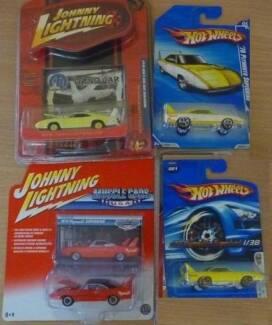 Four RARE Die Cast Dodge Daytonas & Plymouth Superbirds MOC