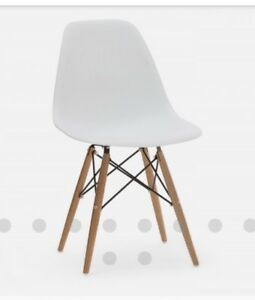 WANTED-4  Structube Eiffel chairs with wooden legs
