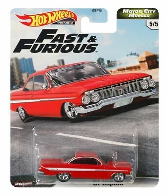 Hot Wheels Chevy Impala SS 1961 Red Fast and Furious GBW75-956G 1/64