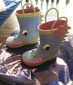 Girls Rubber Rain Boots - Toddler size 6