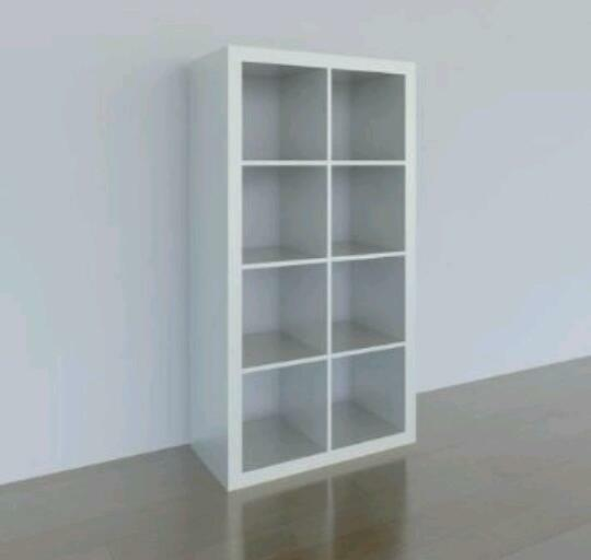 Ikea Brasa Floor Lamp White ~ Ikea Expedit (older version of Kallax) 8 Cube Shelving Unit White