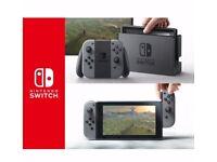 New Nintendo switch in grey