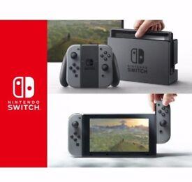 Nintendo switch in grey NEW