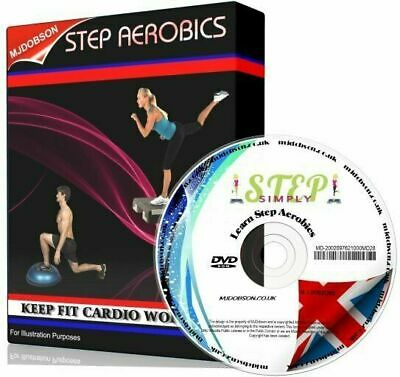 STEP AEROBICS WORKOUT FITNESS DVD - BASIC EXERCISE TUTORIAL FREE 1st POST
