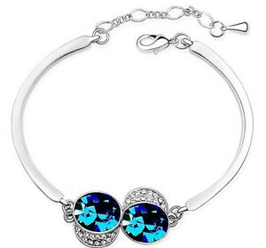 New-fashion-18K-GP-Swarovski-crystal-bracelet-options-2-colour-U-pick-4183