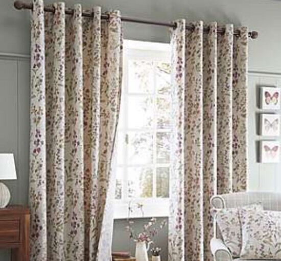 Dunelm Autumn Meadow Eyelet Curtains In Moreton In Marsh