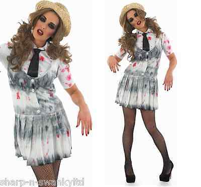 irl Halloween Fancy Dress Costume Outfit UK 8-22 Plus Size (Dead School Girl Outfit)