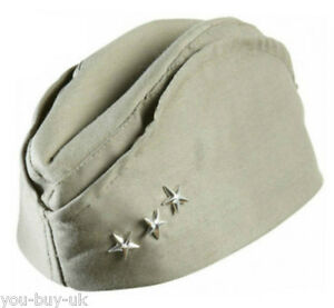 Mens American Army Hat GI Side Cap WW2 Soldier Army Hat 1940s Fancy Dress Access