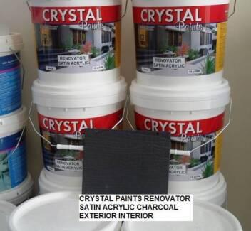 CHARCOAL PAINT 3 X 15 LITRE SATIN ACRYLIC EXTERIOR INTERIOR