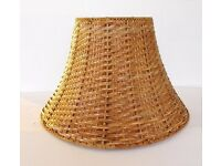 IKEA Wicker Lamp Shade Brown Natural Rattan only £5