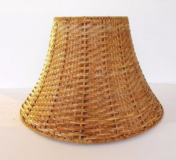 Ikea Wicker Lamp Shade Brown Natural Rattan Only 163 5 In