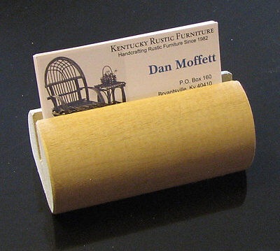 Wooden Dowel Business Card Holder Free Shipping