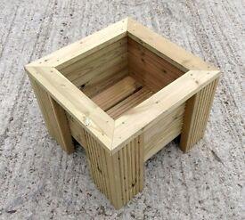 Premium Square Wooden Decking Planter