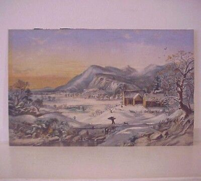 Country Winter Landscape 70s