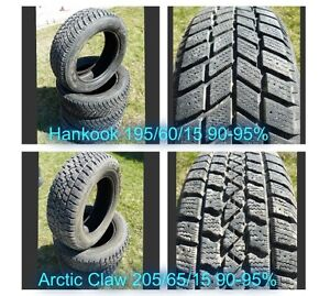 Used 15 inch Winter Tires - 195/60/15 & 205/65/15