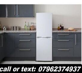 fridge freezer 5ft can deliver vgc silver