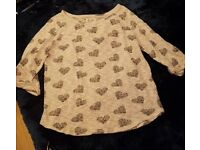 Size 18 new look light jumper with grey hearts