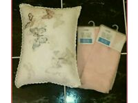 Printed pillow and matching voile