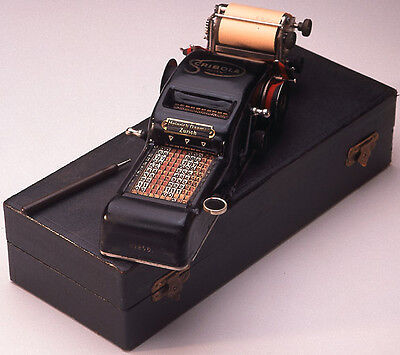 Scribola Small Printing Adding Machine by Ruthardt & Co.